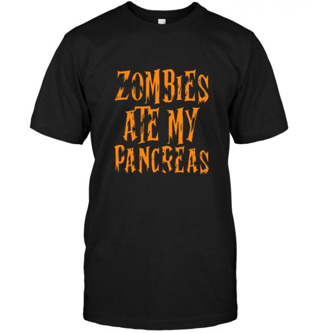 Zombies ate my pancreas halloween gift tee shirt hoodie