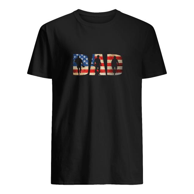 Veteran dad america flag father's gift tee shirt