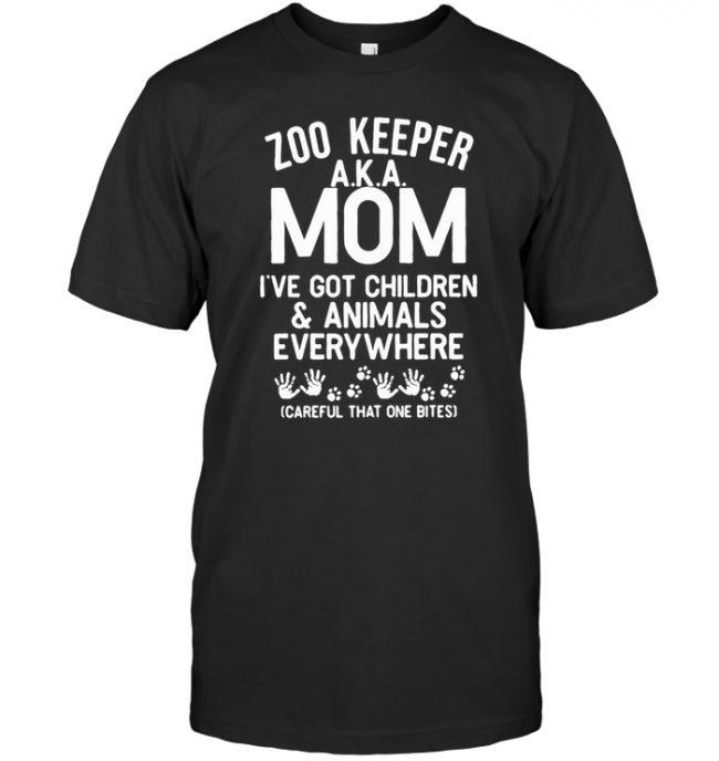 Zoo keeper mom got children, animals everywhere Tee shirt