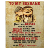 To My Husband You Are Sunshine Braver Than You Believe Blankets Perfect Valentine Day Gift From Wife Plush Fleece Blanket
