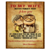 To My Wife Never Forget That I Love You Blanket Perfect Valentine Day Gift From Husband White Plush Fleece Blankets