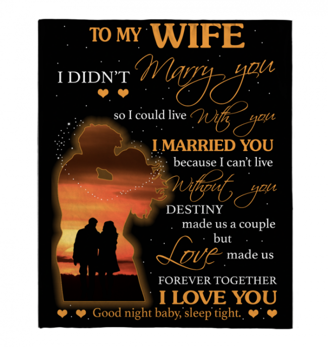 I Love and Can't Live Without My Wife Blankets Perfect Valentine Day Gift From Husband Black Plush Fleece Blanket