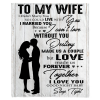 To My Wife I Love You Destiny Made Us Couple Love Forever Together Valentine Day Gift From Husband White Plush Fleece Personalized Blanket