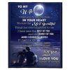 To My Wife I Want You To Believe Deep In You Heart Love Blankets Valentine Day Gift From Husband Black Plush Fleece Blanket