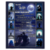 To My Wife Once Upon A Time God Blessed The Broken Road I Love You Blankets Gift From Husband Blakc Plush Fleece Blanket