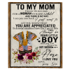 Air Force To My Mom I Know It's Not Easy For A Woman To Raise A Child Son Gifts For Mom Mothers Day White Plush Fleece Blanket