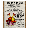 Firefighter To My Mom I Know It's Not Easy For A Woman To Raise A Child Son Gift For Mother Blanket