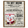 Nurse To My Mom I Know It's Not Easy For A Woman To Raise A Child Daughter Gift For Mother Blanket