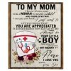 Nurse To My Mom I Know It's Not Easy For A Woman To Raise A Child Son Gift For Mother Blanket