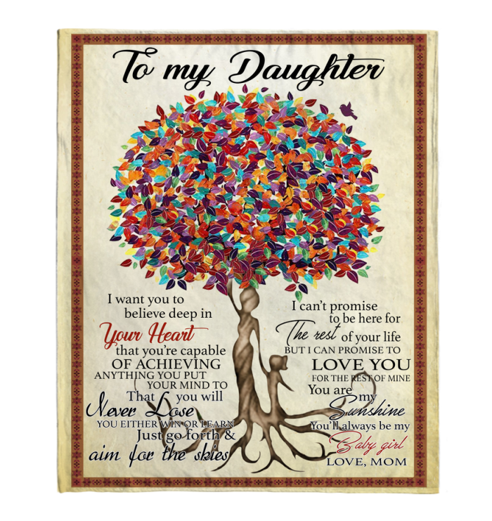 Mom Version Daughter Aim For The Skies Blanket