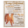 To My Girlfriend I Love You Forever And Always Hands Blankets Gift From Boyfriend White Plush Fleece Blanket
