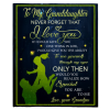 To My Granddaughter Never Forget That I Love You Blankets Gift From Grandpa Black Plush Fleece Blanket