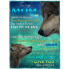 To My Mom I Know It's Not Easy For A Woman To Raise A Man I Love My Mother Son's Gift Wolf Black Plush Fleece Blanket