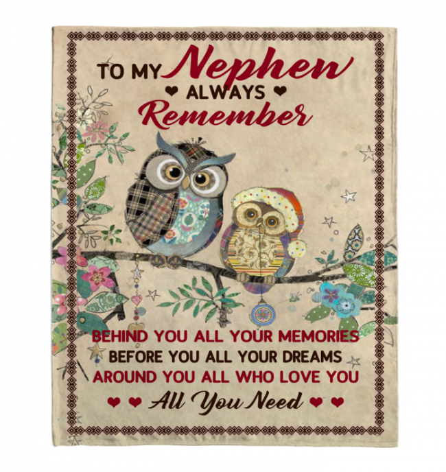 To My Nephew Always Remember Behind You All Your Memories Before Dreams Around Who Love You Blankets Gift From Aunt Black Plush Fleece Blanket