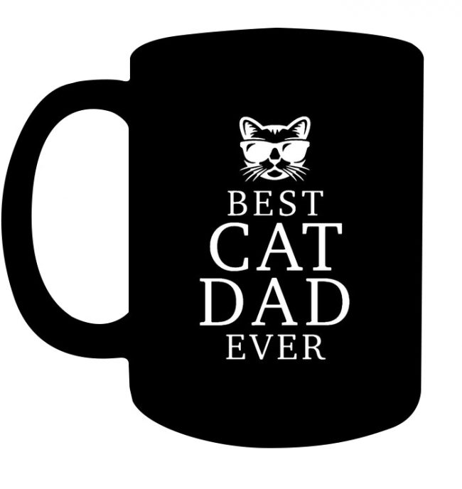 Best Cat Dad Ever Fathers Day Gift Ideas For Men Black Coffee Mug