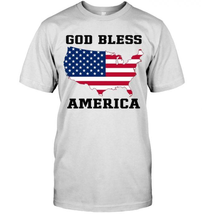 God Bless America Flag T Shirt