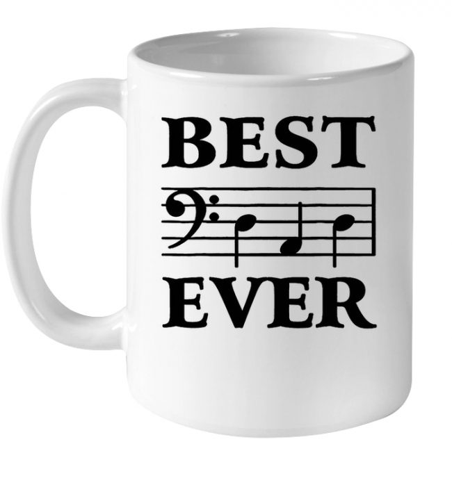 Best Dad Ever Musician Father's Day Funny Gift For Dad White Coffee Mug
