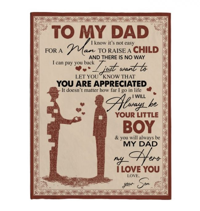 To My Dad Not Easy Raise Child I Love You Fathers Day Gift Ideas For Dad From Boy Fleece Sherpa Mink Blanket