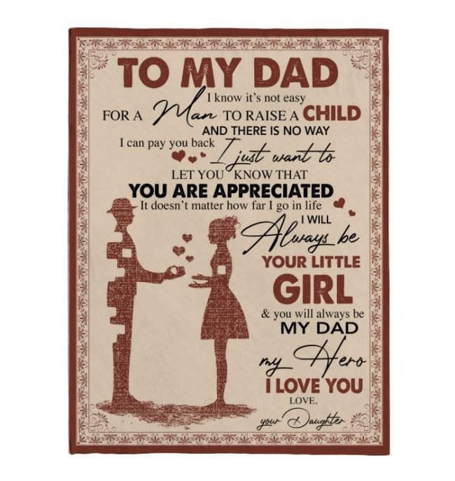 To My Dad Not Easy Raise Child I Love You Fathers Day Gift Ideas For Dad From Daughter Fleece Sherpa Mink Blanket